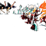 Illustration du prospectus de la 'Zinneke parade'