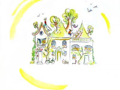 Dessin pour la cellule du developpement durable de Saint-Gilles