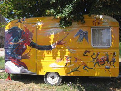 La caravane de Grégoire Barbe d'Or